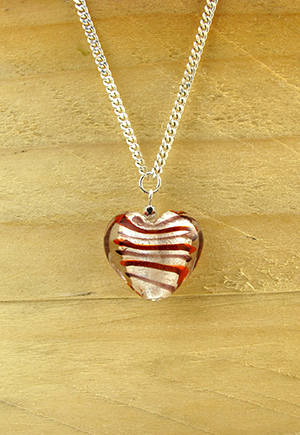 Collier coeur rouge Shama